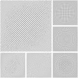 3D geometrische geplaatste patronen Convexe texturen en achtergronden stock illustratie