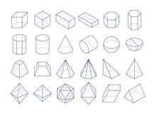 3D Geometrische vormen Royalty-vrije Stock Foto's