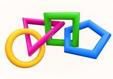 3d geometrische vormen Stock Afbeeldingen