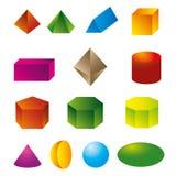 3d geometrische vormenvector Royalty-vrije Stock Afbeeldingen