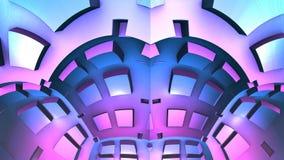 3D geometryczni kształty, 3D tła ilustracja Ilustracja Wektor