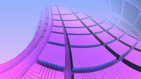 3D geometryczni kształty unosi się w przestrzeni Zdjęcie Royalty Free