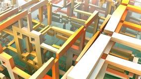 3D geometryczni kształty unosi się w przestrzeni Fotografia Royalty Free