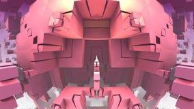 3D geometryczni kształty unosi się w przestrzeni Obrazy Royalty Free