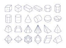 3D Geometryczni kształty Zdjęcia Royalty Free