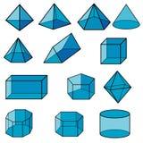 3d geometryczny dla dzieciaka wektoru zdjęcia royalty free