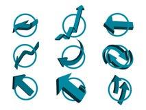 3d geplaatste pijlen vector illustratie