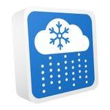 3d geplaatste weervoorspellings vectorpictogrammen stock illustratie