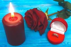 3d geproduceerd beeld Het voorstel huwelijk Stock Fotografie