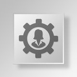 3D gerente Button Icon Concept Imagem de Stock