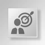 3D gerente Button Icon Concept Fotos de Stock Royalty Free