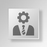 3D gerente Button Icon Concept Imagem de Stock Royalty Free