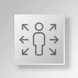 3D gerente Button Icon Concept Foto de Stock Royalty Free