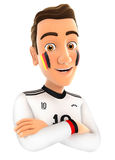 3d german soccer fan with arms crossed Stock Images