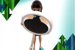 3d Geschäftsfrau-Suche-illstration Lizenzfreie Stockbilder