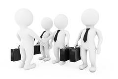3d Geschäftsmann Characters Shaking Hands Wiedergabe 3d stock abbildung