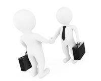 3d Geschäftsmann Characters Shaking Hands Wiedergabe 3d lizenzfreie abbildung