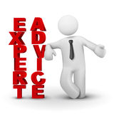 3d Geschäftsmann, der Konzept des sachverständigen advicet darstellt Lizenzfreie Stockfotos