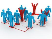 3d Geschäftsmann-Perspektivenansicht des Organisationsdiagramms Stockfoto