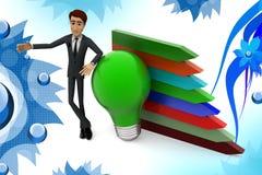3d Geschäftsmann-Wachstumsideenillustration Stockfotografie