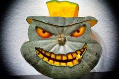 3D gesneden Halloween-pompoen Royalty-vrije Stock Afbeelding
