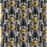 3d gestreept Barok naadloos patroon royalty-vrije illustratie