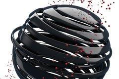 3D gestreepte decoratieve ballen Royalty-vrije Stock Afbeeldingen