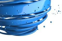 3D gestreepte decoratieve ballen Stock Fotografie