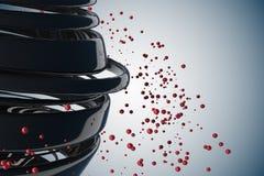 3D gestreepte decoratieve ballen Royalty-vrije Stock Afbeelding