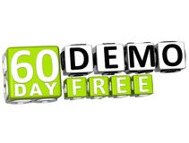 3D Get 60 Day Demo Free Block Letters. Over white background Stock Photo