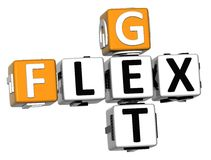 3D Get Flex Crossword over white background Royalty Free Stock Images