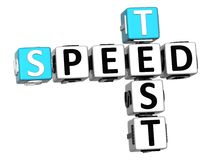 3D Get Speed Test Cheap Crossword Stock Images