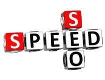 3D Get Speed Test Cheap Crossword Stock Image
