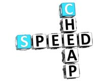 3D Get Speed Test Cheap Crossword. On white background royalty free illustration