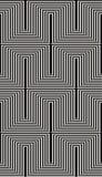 3d gevoerd kubussen naadloos patroon, zwart-wit vectorachtergrond stock illustratie