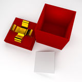 3d gift box. 3d gift box metaphor concept Stock Image