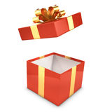 3d Gift box opens Stock Photography