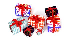 3d gift boxes for Christmas Stock Image