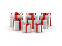 3d gift boxes Royalty Free Stock Photos