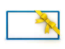 3d gift card with ribbon Stock Images