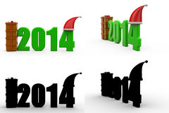 3d 2014 gift concept collections with alpha and shadow channel Royalty Free Stock Image