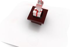 3d gift with crane concept Royalty Free Stock Photography