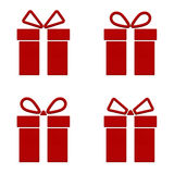 3d gift icons front view collection  on white background. 3D rendering Stock Images