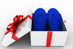 3d gift slippers Royalty Free Stock Image