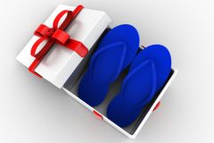3d gift slippers Royalty Free Stock Photo