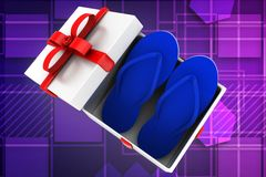3d gift slippers illustration Royalty Free Stock Image