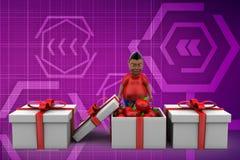 3d gift van de mensenappel Stock Foto's