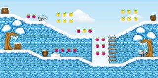2D gioco 14 della piattaforma di Tileset Fotografia Stock