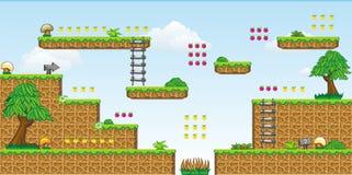 2D gioco 30 della piattaforma di Tileset Fotografie Stock