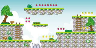 2D gioco 19 della piattaforma di Tileset Fotografie Stock Libere da Diritti